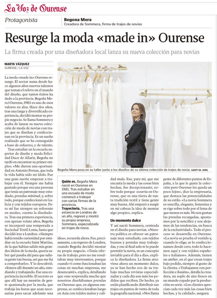 Sommera novias atelier Ourense